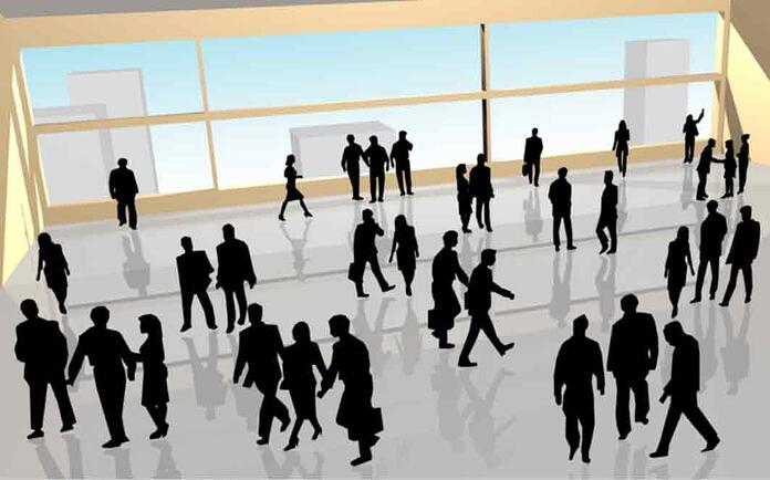 Crowd of business people